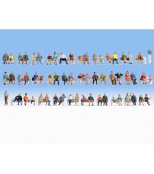 Мега икономичен комплект седящи фигури в мащаб HO - 60 броя