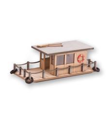 Къща-лодка, 8x3,4cm х 3cm височина