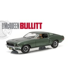 Bullitt (1968) - 1968 Ford Mustang GT Fastback with Steve McQueen Figure Driving with Steve McQueen Figure Driving