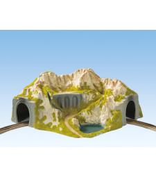 Тунел за извита единична релса, извит, 41x37cm, 20cm висок