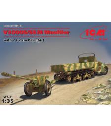 1:35 Влекач V3000S/SS M Maultier с оръдие 7,62 cm Pak 36 (r)