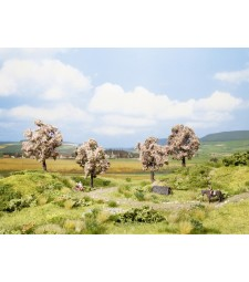 Плодово дърво в цвят - височина 8 см, 4 броя