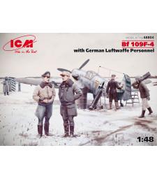 1:48 Германски изтребител Месершмит Бф 109Ф-4 с Луфтвафе персонал (4 фигури)