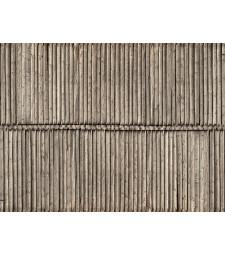 """Лист 3D картон """"Дървена стена"""" 25 x 12,5 cm (H0)"""