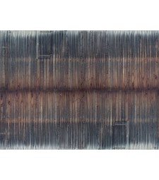 """Лист 3D картон """"Дървена стена"""", състарен, 25 x 12,5 cm (H0)"""