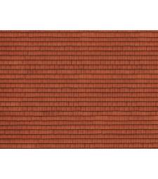 """Лист 3D картон """"Покрив"""" червен, 25 x 12,5 cm (H0)"""