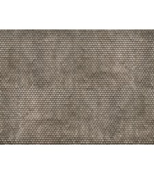 "Лист 3D картон ""Обикновени плочки"" сив, 25 x 12,5 см (H0)"
