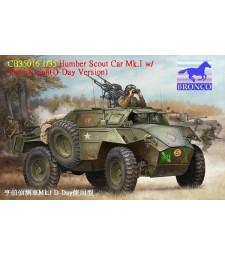 1:35 Брониран разузнавателен автомобил Humber Scout Car Mk. I w/twin k-gun (D-day версия)