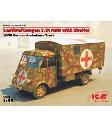 1:35 Германски санитарен автомобил Lastkraftwagen 3,5 t AHN