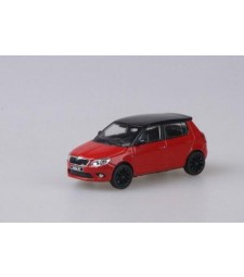 Skoda Fabia II RS (Facelift 2010) Red Corrida Uni with black roof+black wheels