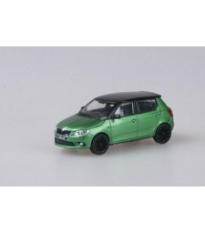 Skoda Fabia II RS (Facelift 2010) Rallye Green Metallic with black roof+black wheels