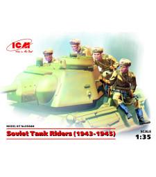1:35 Съветска пехота 1943-1945 (Soviet Tank Riders, 1943-1945) (100% нови отливки) - 4 фигури
