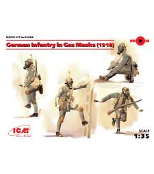 1:35 Германска пехота с предпазни маски, 1918 - 4 фигури (German Infantry in Gas Masks, 1918)