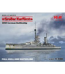 "1:700 Германски имперски боен кораб ""Гросер Курфурст""-пълен корпус и ватерлиния (German Battleship ""Grosser Kurfurst"", full hull & waterline, WWI)"
