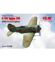 1:32 Съветски изтребител И-16 Тип 28 (I-16 type 28, WWII Soviet Fighter)