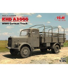 1:35 Германски военен камион КХД А3000 (KHD A3000, WWII German Truck)