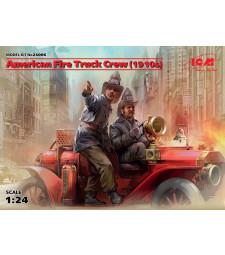 1:24 Американски пожарникари (1910) (2 фигури) (100% нови отливки)