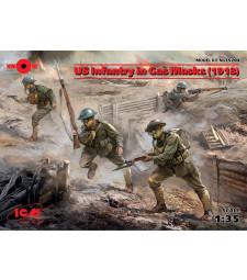 1:35 Американски пехотинци с газови маски (US Infantry in Gas Masks) (1918) (4 фигури)