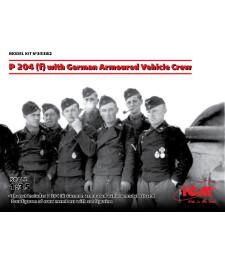 1:35 Германски брониран автомобил П 204 с екипаж (4 фигури) (P 204 (f) with German Armoured Vehicle Crew)