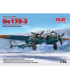1:48 Двумоторен финландски бомбардировач До 17Z-2 (Do 17Z-2, WWII Finnish Bomber)