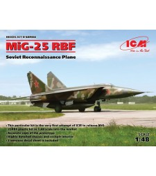 1:48 Съветски разузнавателен самолет МИГ-25 RBF (MiG-25 RBF, Soviet Reconnaissance Plane)