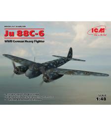 1:48 Германски многоцелеви изтребител Юнкерс 88Ц-6 (Ju 88С-6, WWII German Heavy Fighter)