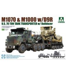 1:72 Американски влекач M1070&M1000 D9R 70 Ton с булдозер (U.S. M1070&M1000 w/D9R 70 Ton Tank Transporter w/Bulldozer)