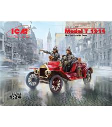 1:24 Модел T 1914 пожарна кола с екипаж - 2 фигури