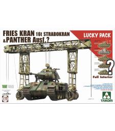 1:35 ФРИЙС КРАН 16т Страброкран, производство 1943/44 в комбинация на случаен принцип с танк Panther (пълен интериор) - Lucky Pack