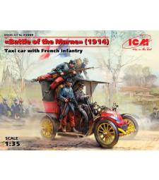 """1:35 """"Битка при Марна"""" (1914), такси с френски пехотинци - 4 фигури"""