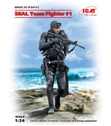 1:24 Военноморски тюлен #1(S.E.A.L. Team Fighter #1) (100% нова отливка) - 1 фигура