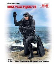 1:24 Военноморски тюлен #2 (S.E.A.L. Team Fighter #2) (100% нова отливка) - 1 фигура