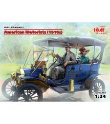 1:24 Американци (1910s) (1 мъжка, 1 женска фигура) (100% нови отливки)