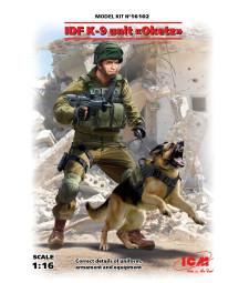 """1:16 Израелските отбранителни сили, сециални части кучешки отряд """"OKETZ""""  IDF K-9 Unitz """"OKETZ"""" (100% нови отливки) - 2 фигури"""