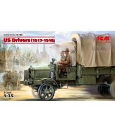 1:35 Американски шофьори (1917-1918) (100% нови отливки) - 2 фигури
