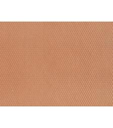 Обикновени плочки, червени (28 x 10 cm) - 3D гъвкаво фолио