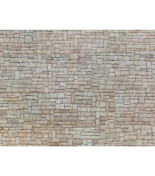 "Лист 3D картон ""Варовикова стена"" бял, 25 x 12,5 cm (H0)"