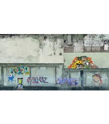 """Лист 3D картон """"Индустриална стена"""" сив, 25 x 12,5 cm (H0)"""