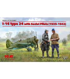 1:32 Самолет И-16 тип 24 със съветски пилоти (1939-1942) - 3 фигури
