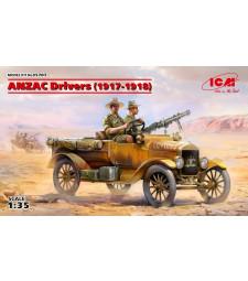 1:35 АНЗАК шофьори (1917-1918) (100% нови отливки) - 2 фигури