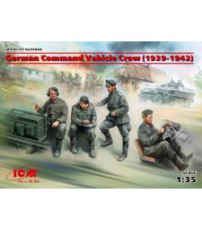 1:35 Германски персонал на команден автомобил (1939-1942) (100%нови отливки) - 4 фигури