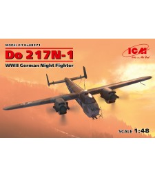 1:48 Германски нощен изтребител Do 217N-1, Втората световна война (100% нови отливки) (Do 217N-1, WWII German Night Fighter)