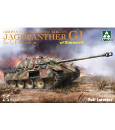 1:35 Германски танков разрушител Sd.Kfz.173 Jagdpanther G1, ранно производство, с цимерит и интериор (Jagdpanther G1 early production German Tank Destroyer Sd.Kfz.173  w/ Zimmerit / full interior kit)