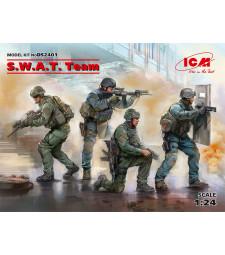 1:24 Спецчасти отряд (S.W.A.T. Team) - 4 фигури