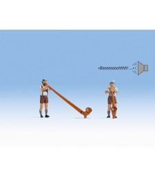 Свирачи на алпенхорн (фигури със звук)