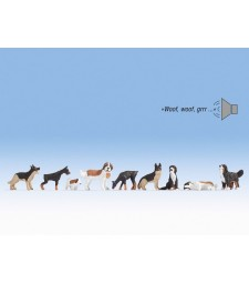 Кучета, различни породи (фигури със звук)