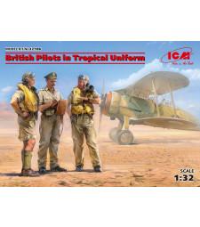1:32 Британски пилоти в тропически униформи (British Pilots in Tropical Uniform) (1939-1943) - 3 фигури, 100% нова матрица