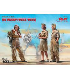1:32 Пилоти от УАСП, 1943-1945 (US WASP) - 3 фигури, 100% нова матрица