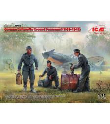 1:32 Германски наземен персонал на Luftwaffe (1939-1945) (3 фигури) (100% нови отливки)