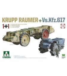 1:72 Противоминна машина Krupp Raumer с Vs.Kfz. 617